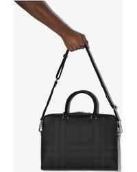 Burberry Black Ainsworth Laptop Bag - Gray