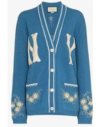 Gucci - - Women's Cardigan With Ny Yankeestm Patch - Lyst