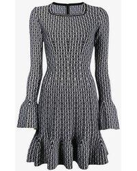 Alaïa - Fluted Knit Dress - Lyst