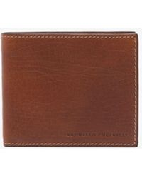 Brunello Cucinelli Debossed Logo Bifold Leather Wallet - Brown