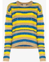 Ashish Glitter Striped Sweater - Multicolor