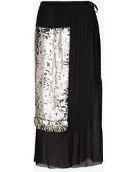 Dries Van Noten Syrine Sequin Embellished Midi Skirt - Black