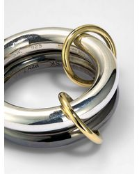 Spinelli Kilcollin 18k Yellow And Black Rhodium Linked Rings - Metallic