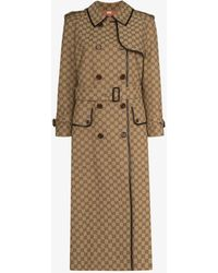 Gucci GG Canvas Trench Coat - Natural