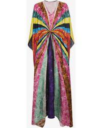 Mary Katrantzou - Silk Sequinned Striped Kaftan - Lyst
