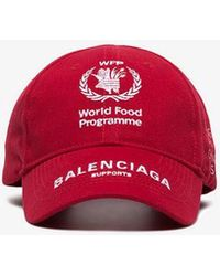 Balenciaga - Wfp Logo Print Cap - Lyst