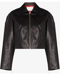 Samuel Guì Yang Cropped Zip-front Jacket - Black