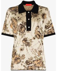Commission Market Floral Polo Shirt - Natural