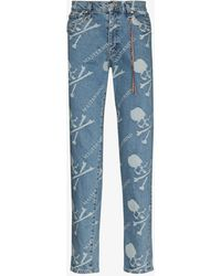 Mastermind Japan Mastermind World Monogram Slim Jeans - Blue