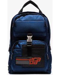 fb60193e14a0 Lyst - Prada Saffiano Cuir Slim Backpack in Brown for Men