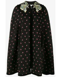 Gucci - All-over Embroidered Cape - Lyst