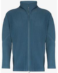 Issey Miyake Basics Plissé Jacket - Blue