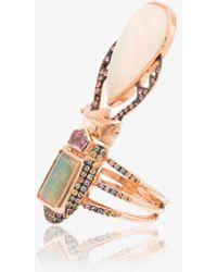 Daniela Villegas - 18k Rose Gold Aurae Opal And Sapphire Ring - Lyst