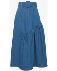 Rejina Pyo - Bonnie Denim Panel Skirt - Lyst