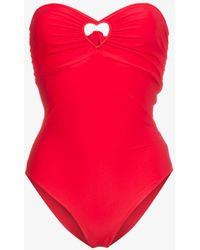 Paper London - Florentine Red Cutout Swimsuit - Lyst