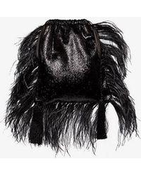 Attico - Black Tassel Pouch Bag - Lyst