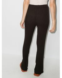 Marques'Almeida Ribbed Knit Trousers - Black