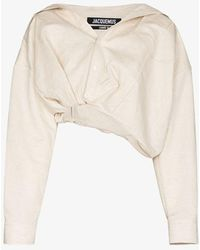 Jacquemus Mejean Cropped Shirt - Natural