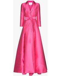 Carolina Herrera Belted Blazer Gown - Pink
