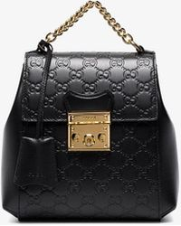 8352be21624 Gucci Padlock Embossed Leather Backpack in White - Lyst