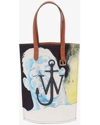 JW Anderson Multicoloured Printed Tote Bag - Black