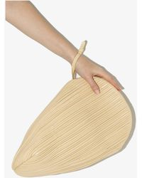 Neous Neutral Pluto Leather Clutch Bag - Natural