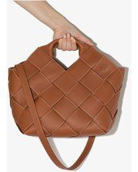 Loewe Woven Leather Tote Bag - Brown