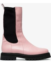 Marques'Almeida - Pink Klara Leather Army Boots - Lyst