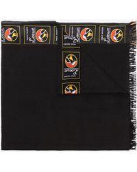 Loewe - Black Logo Cashmere Blend Scarf - Lyst