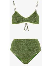 Oséree Lumière Lurex Bikini - Green