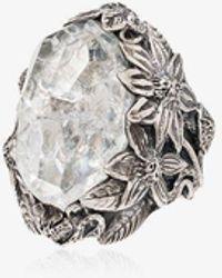 Lyly Erlandsson Crystal Large Winter Ring - Metallic