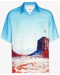 Neighborhood Canyon Print Shirt - Blue