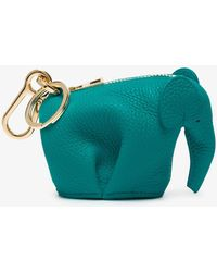 Loewe - Green Elephant Leather Bag Charm - Lyst