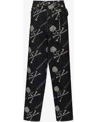 Mastermind Japan Mastermind World Monogram Loose Jeans - Black