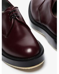 Adieu Type 54c Leather Derby Shoes - Red