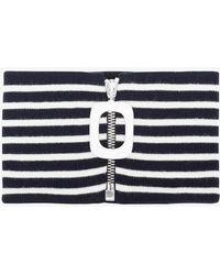 J.W. Anderson | Striped Mock Turtleneck Collar | Lyst