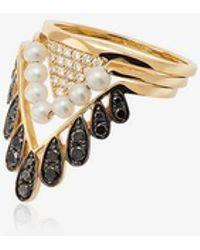 Yvonne Léon - 18kt Gold Viviane Diamond Ring - Lyst