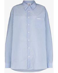 Vetements Oversized Cotton Shirt - White