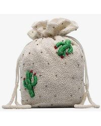 Ganni - White, Green And Red Monticello Sequin Embellished Bag - Lyst