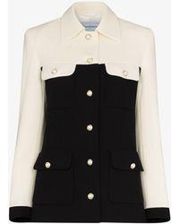 CASABLANCA Amirale Two Tone Wool Jacket - Black