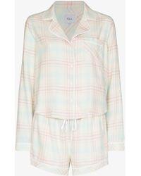 Rails Kellen Checked Pajama Set - White