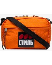Heron Preston Orange Ctnmb Cross Body Camera Bag