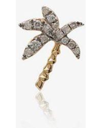 Yvonne Léon - 18k Yellow Gold Palm Tree Diamond Earring - Lyst