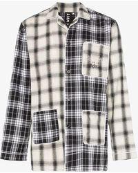 Liam Hodges - Check Print Cotton Pajama Shirt - Lyst