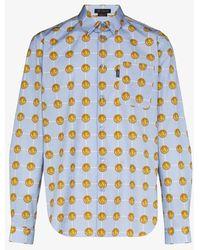 Versace Medusa Head Pattern Shirt - Blue