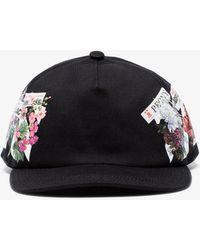 Off-White c/o Virgil Abloh - Black Floral Cotton Baseball Cap - Lyst