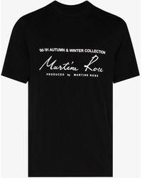 Martine Rose - Logo Print Cotton T-shirt - Lyst
