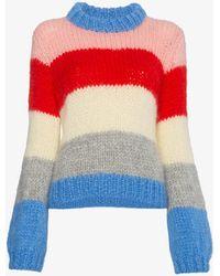 Ganni Julliard Mohair Sweater - White
