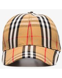 Burberry Vintage Check Print Canvas Baseball Hat - Brown