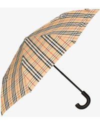 Burberry Trafalgar Vintage Check Umbrella - Brown